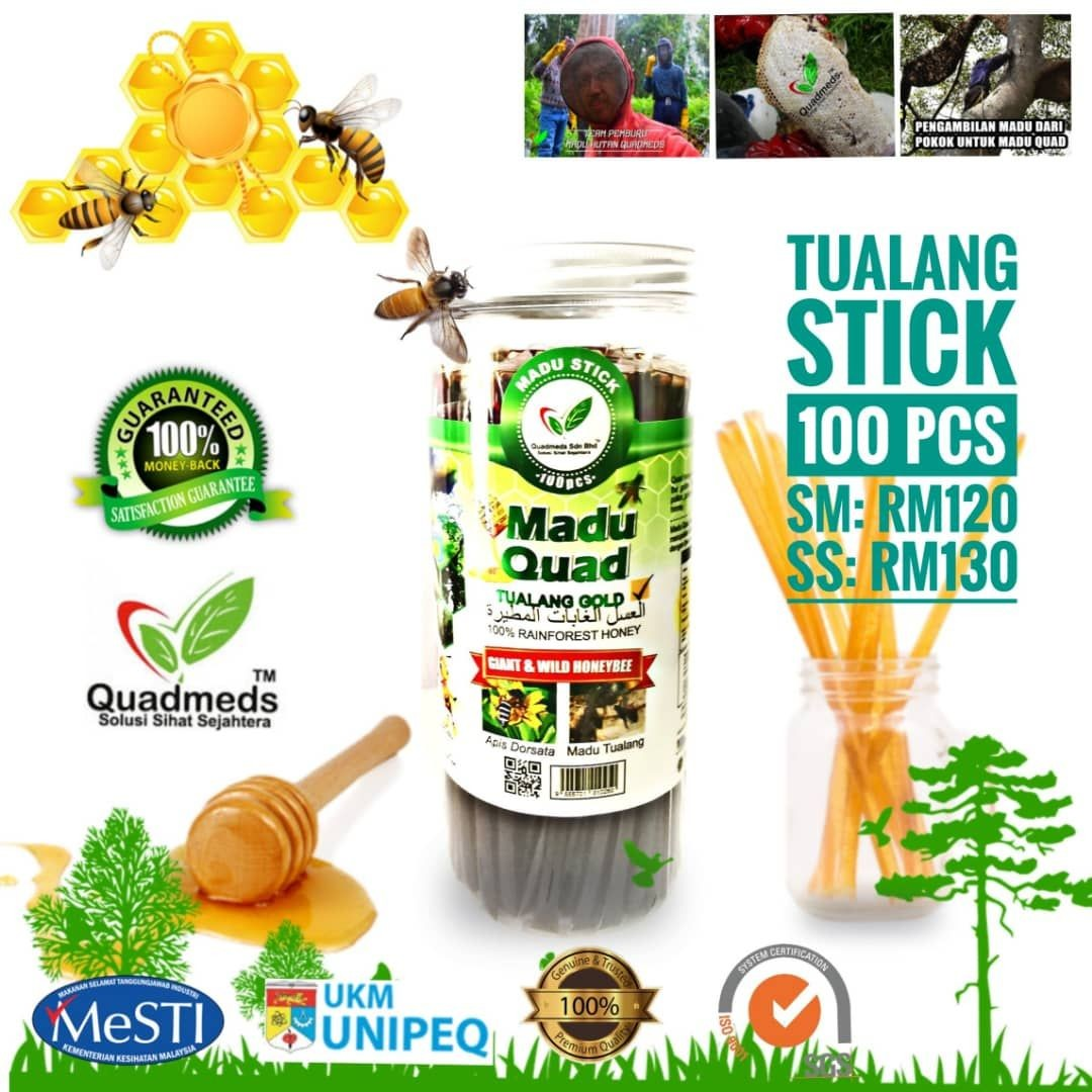 Gambar Madu Tualang Asli Quad | 100 sticks