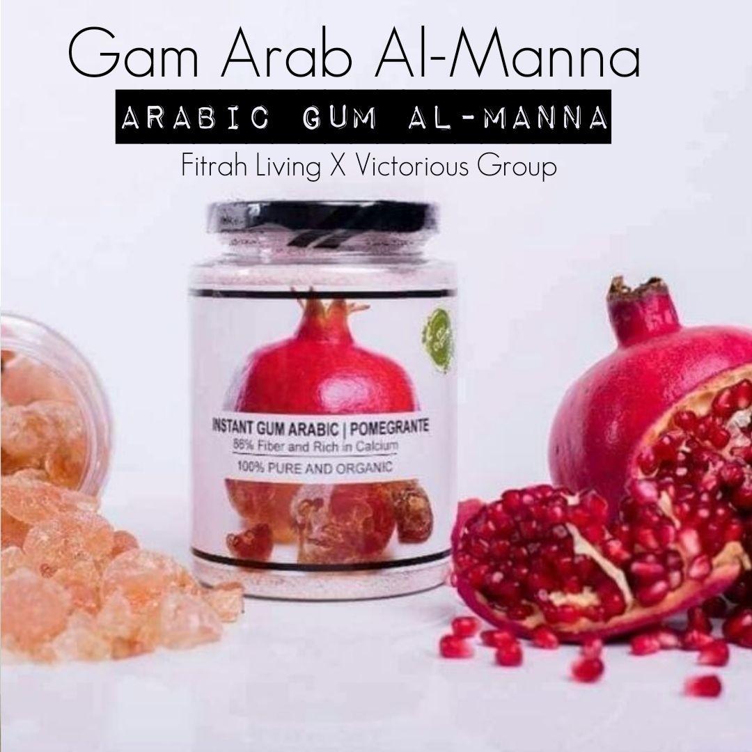 Gambar Gum Arabic Dengan Ekstrak Delima (Al-Manna) | 170g